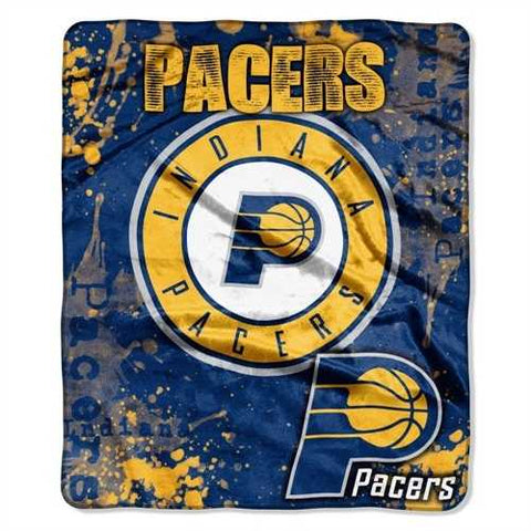 Indiana Pacers Blanket 50x60 Raschel Drop Down Design - Zymotic