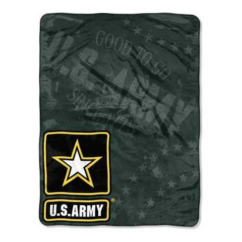 US Army Blanket 46x60 Micro Raschel Good To Go Design - Zymotic
