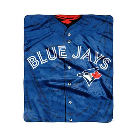 Toronto Blue Jays Blanket 50x60 Raschel Jersey Design Alternate UPC - Zymotic
