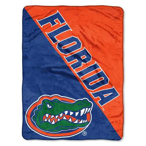 Florida Gators Blanket 46x60 Micro Raschel Halftone Design Rolled - Zymotic