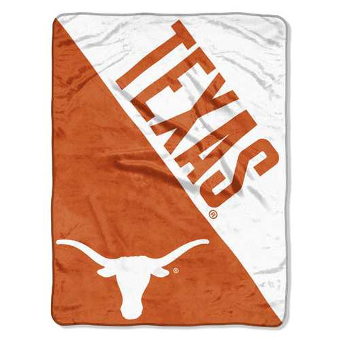 Texas Longhorns Blanket 46x60 Micro Raschel Halftone Design Rolled - Zymotic