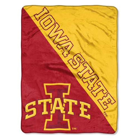 Iowa State Cyclones Blanket 46x60 Micro Raschel Halftone Design Rolled Special Order - Zymotic
