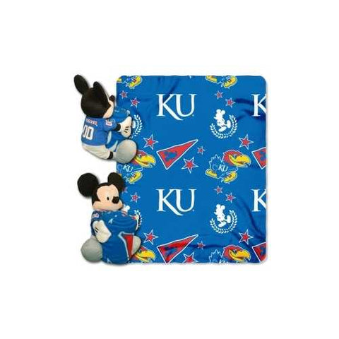 Kansas Jayhawks Blanket Disney Hugger - Zymotic