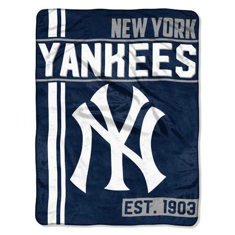 New York Yankees Blanket 46x60 Micro Raschel Walk Off Design - Zymotic
