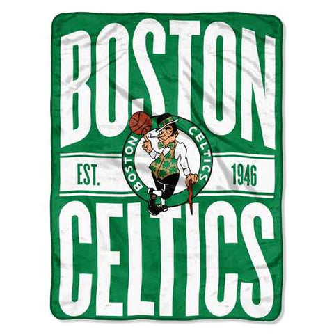 Boston Celtics Blanket 46x60 Micro Raschel Clear Out Design Rolled Special Order - Zymotic
