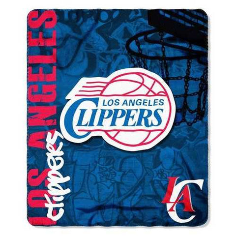 Los Angeles Clippers Blanket 50x60 Fleece Hard Knock Design - Zymotic
