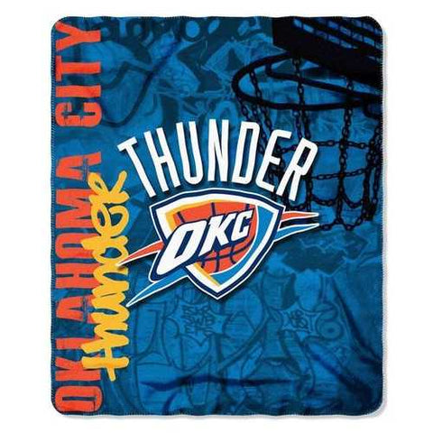 Oklahoma City Thunder Blanket 50x60 Fleece Hard Knock Design - Zymotic