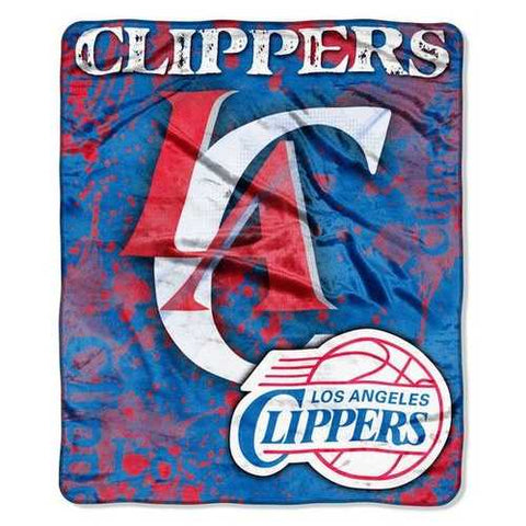 Los Angeles Clippers Blanket 50x60 Raschel Drop Down Design Special Order - Zymotic