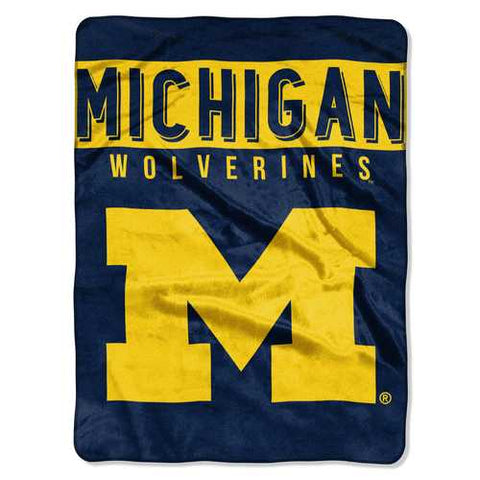 Michigan Wolverines Blanket 60x80 Raschel Basic Design - Zymotic