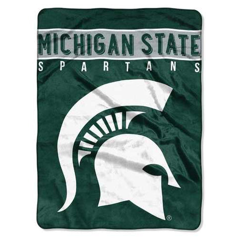 Michigan State Spartans Blanket 60x80 Raschel Basic Design - Zymotic