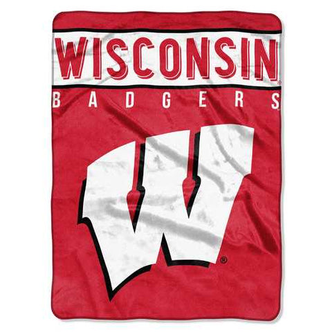 Wisconsin Badgers Blanket 60x80 Raschel Basic Design Special Order - Zymotic