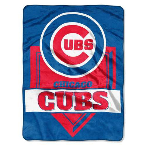 Chicago Cubs Blanket Blanket 60x80 Raschel Home Plate Design - Zymotic