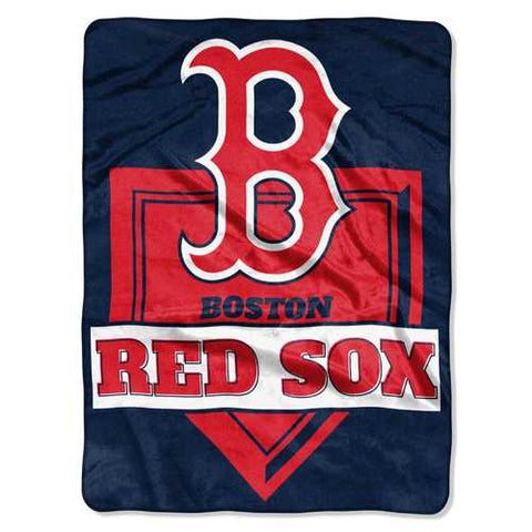 Boston Red Sox Blanket 60x80 Raschel Home Plate Design - Zymotic