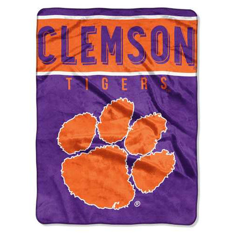 Clemson Tigers Blanket 60x80 Raschel Basic Design - Zymotic