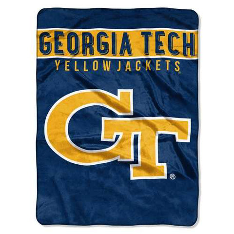 Georgia Tech Yellow Jackets Blanket 60x80 Raschel Basic Design Special Order - Zymotic