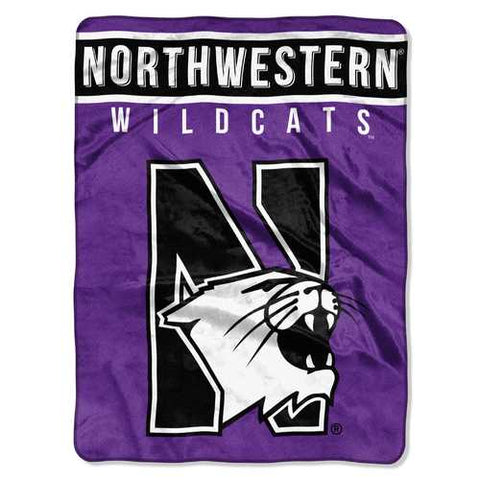 Northwestern Wildcats Blanket 60x80 Raschel Basic Design Special Order - Zymotic