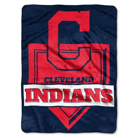 Cleveland Indians Blanket 60x80 Raschel Home Plate Design - Zymotic