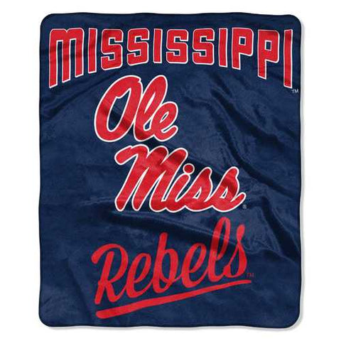 Mississippi Rebels Blanket 50x60 Raschel Alumni Design - Zymotic