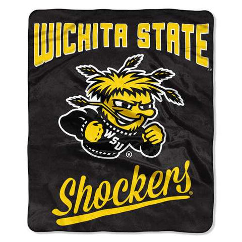 Wichita State Shockers Blanket 50x60 Raschel Alumni Design - Zymotic