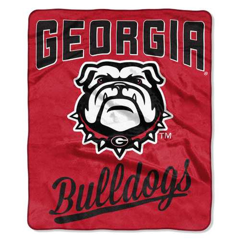 Georgia Bulldogs Blanket 50x60 Raschel Alumni Design - Zymotic