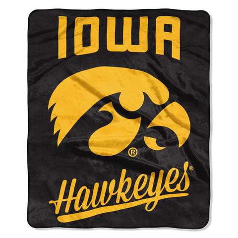 Iowa Hawkeyes Blanket 50x60 Raschel Alumni Design - Zymotic