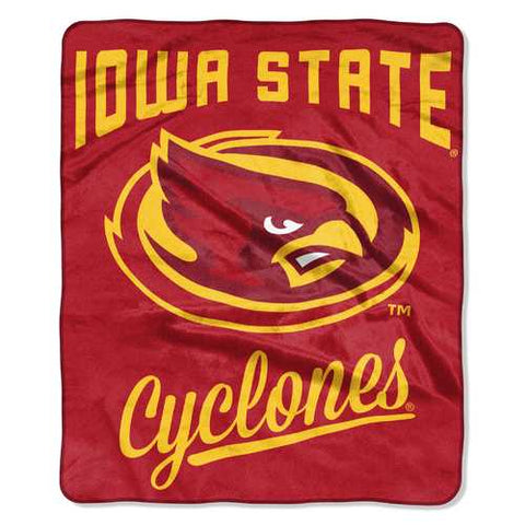 Iowa State Cyclones Blanket 50x60 Raschel Alumni Design - Zymotic