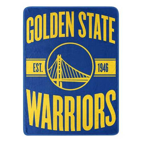 Golden State Warriors Blanket 46x60 Micro Raschel Clear Out Design Rolled - Zymotic