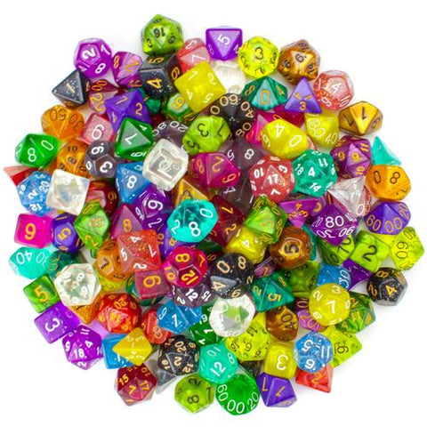 100+ Pack of Random Polyhedral Dice, Series II - Zymotic