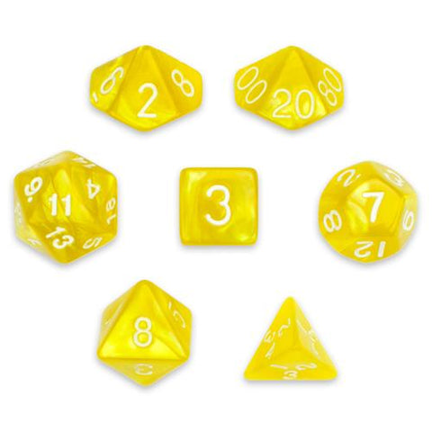7 Die Polyhedral Set in Velvet Pouch, King's Ransom - Zymotic