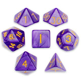 Set of 7 Polyhedral Dice, Lucid Dreams - Zymotic