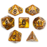 7 Die Polyhedral Set in Velvet Pouch, Mountainheart - Zymotic