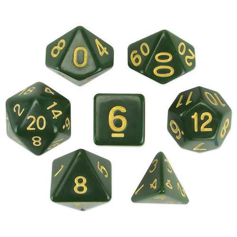 Set of 7 Polyhedral Dice, Blighted Grove - Zymotic