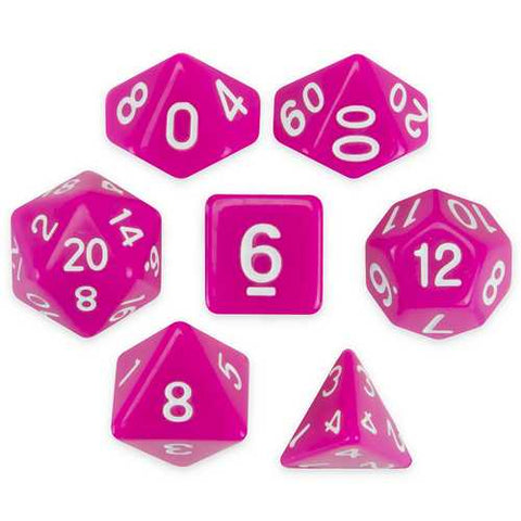 Set of 7 Polyhedral Dice, Dragonberry - Zymotic