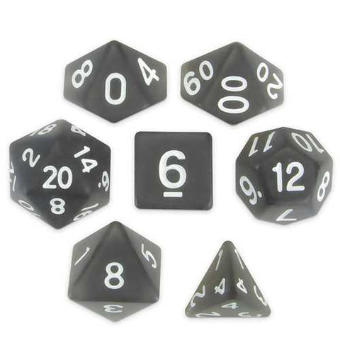 Set of 7 Polyhedral Dice, Penumbra - Zymotic