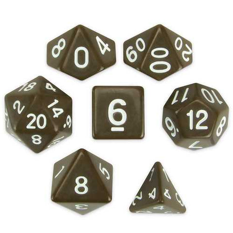 Set of 7 Polyhedral Dice, Enchanted Clay - Zymotic