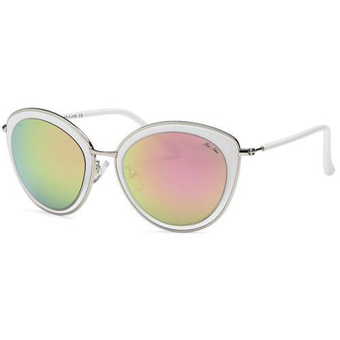 White Fashion Sunglasses Clear Frame - Zymotic
