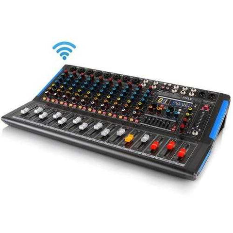 12-Ch. Bluetooth Studio Mixer - DJ Controller Audio Mixing Console System - Zymotic