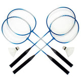 Complete 4-Player Badminton Set - Zymotic
