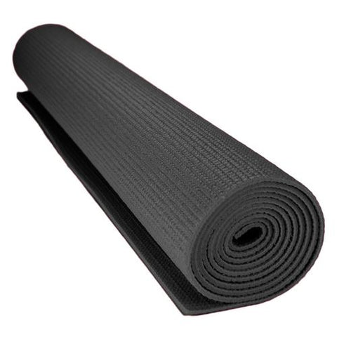 1/8-inch (3mm) Compact Yoga Mat with No-Slip Texture - Black - Zymotic