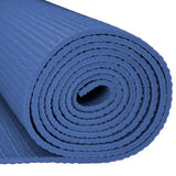 1/8-inch (3mm) Compact Yoga Mat with No-Slip Texture - Blue - Zymotic