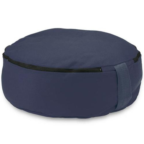 "Blue 15"" Round Zafu Meditation Cushion - Zymotic"