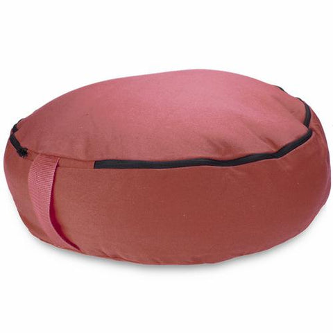 "Red 18"" Round Zafu Meditation Cushion - Zymotic"