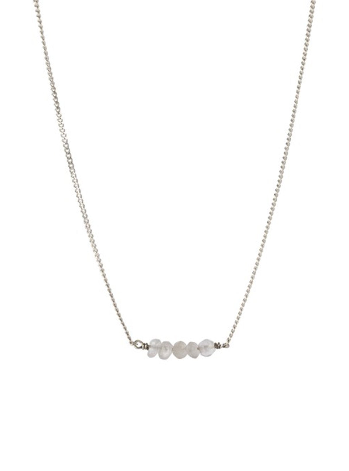 Petite moonstone necklace - sterling silver