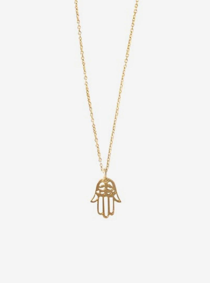 a beautiful story Necklaces Delicate hamsa - gold necklace