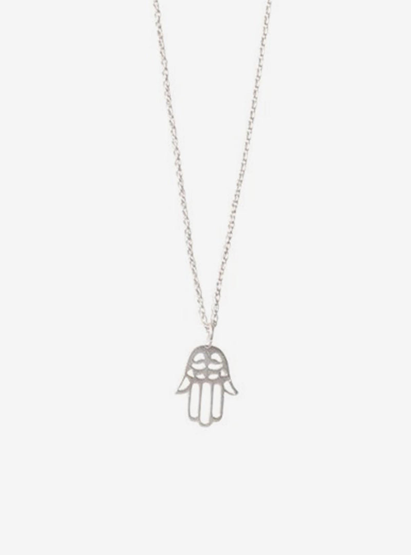 a beautiful story Necklaces Delicate hamsa - silver necklace