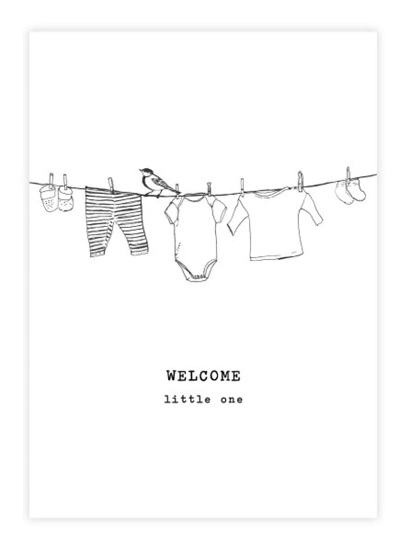 A Beautiful Story stationary Little one - postcard - welcome little one