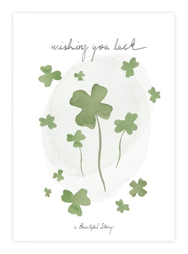 A Beautiful Story stationary Luck - postcard - wishing you luck