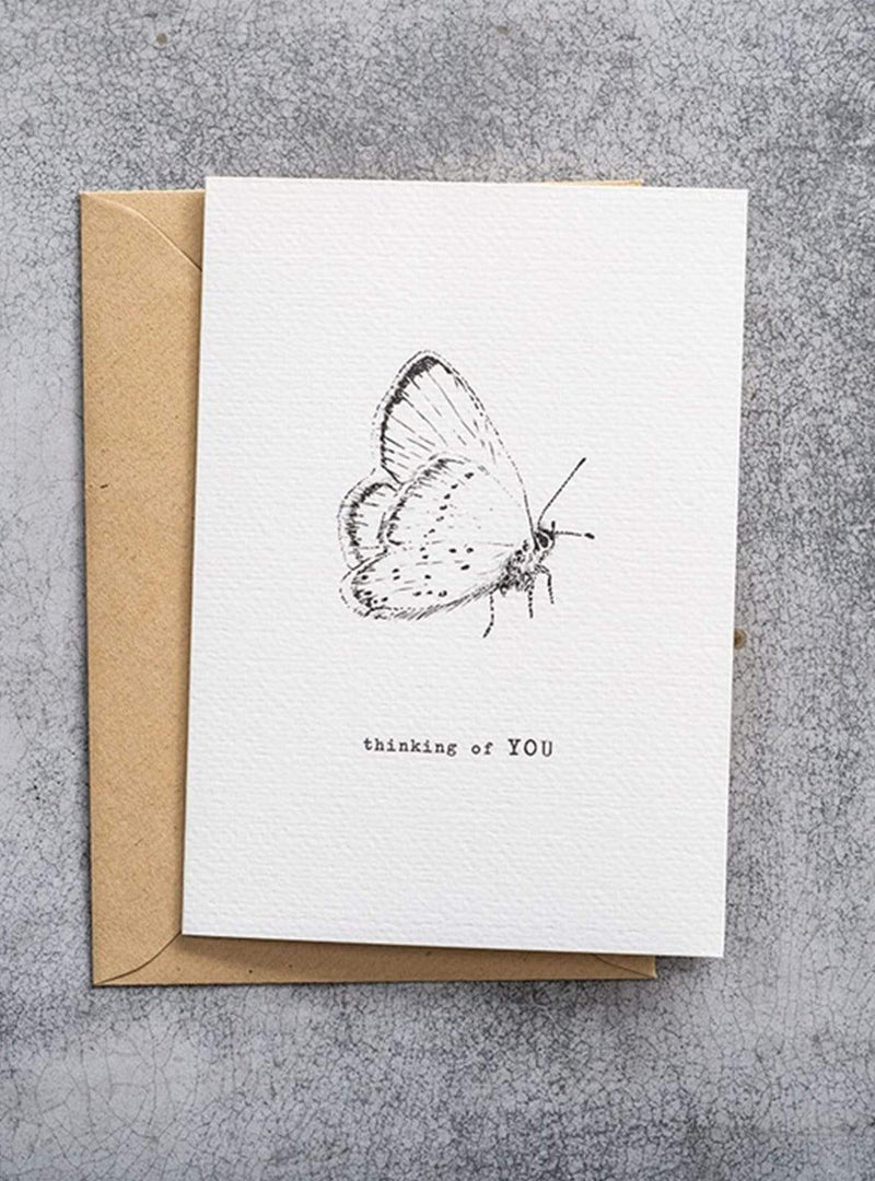 A Beautiful Story stationary Postcard - butterfly