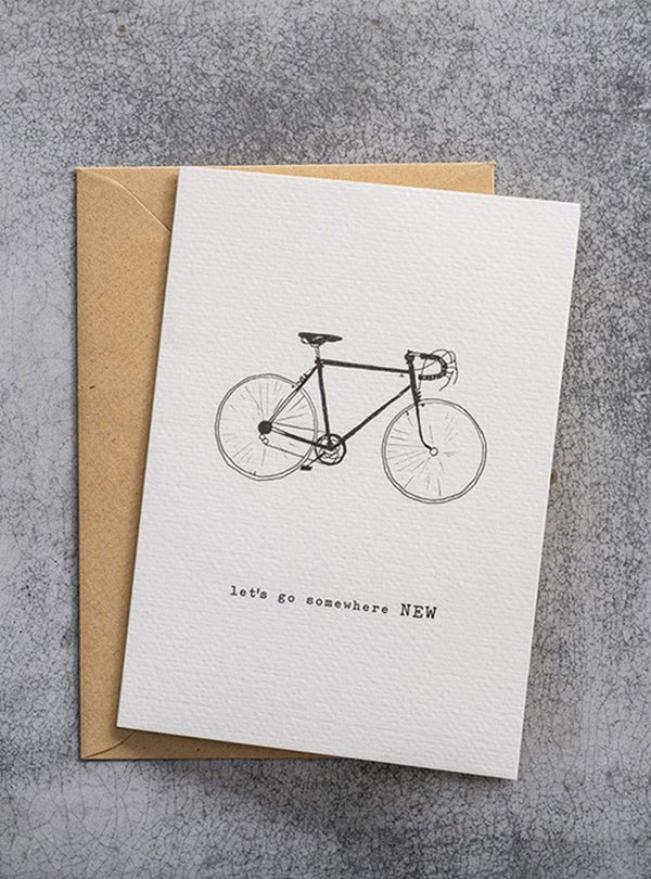 A Beautiful Story stationary Postcard - bycicle