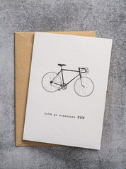 Bycicle - postcard - let's go somewhere new